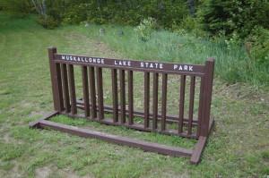 Muskallonge State Park Bike Rack