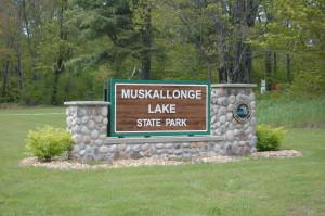 Muskallonge State Park Sign MI DNR