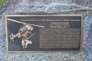 Operation Mooselift MOWA Plaque Van Riper Michigan