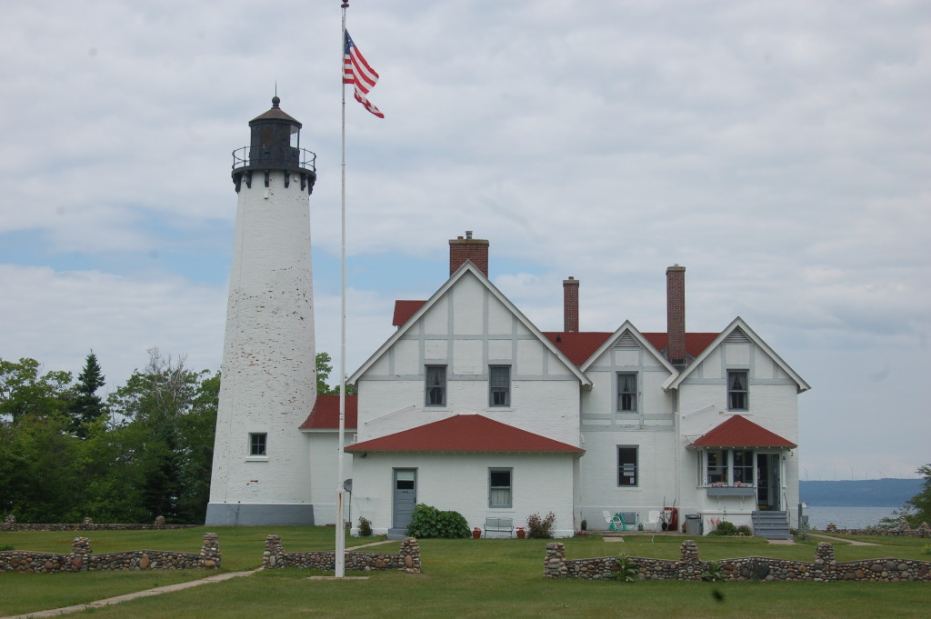 Point Iroquois Lighthouse Up Close Lake Superior