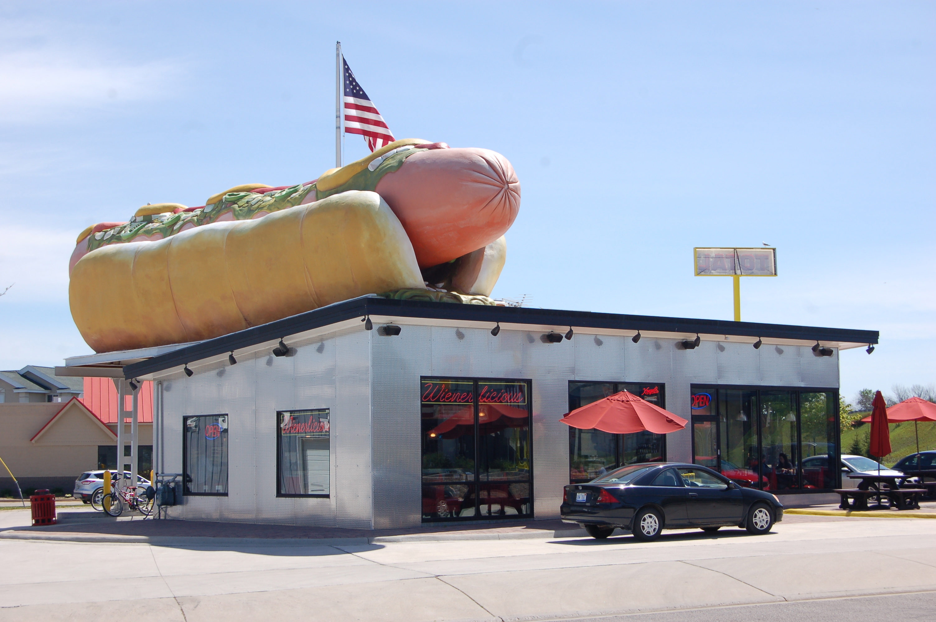 Wienerlicious In Mackinaw City America S Largest Hot Dog