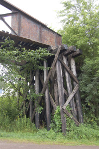 Wodden Supports Bessemer Railroad Bridge