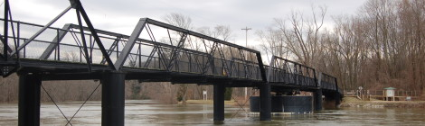 Michigan Roadside Attractions: Historic 57th Street Bridge in Allegan County (New Richmond Bridge Park)