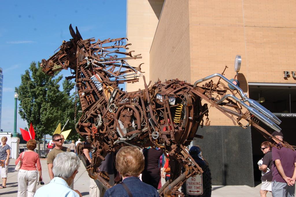 ArtPrize 2014 Metal Horse