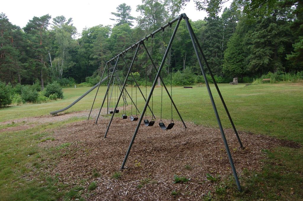 Bewabic State Park Swingset Playground