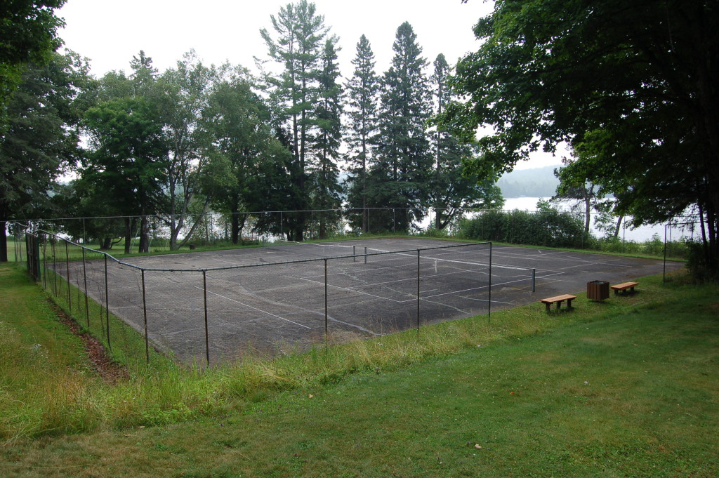 Bewabic State Park Tennis Court Michigan