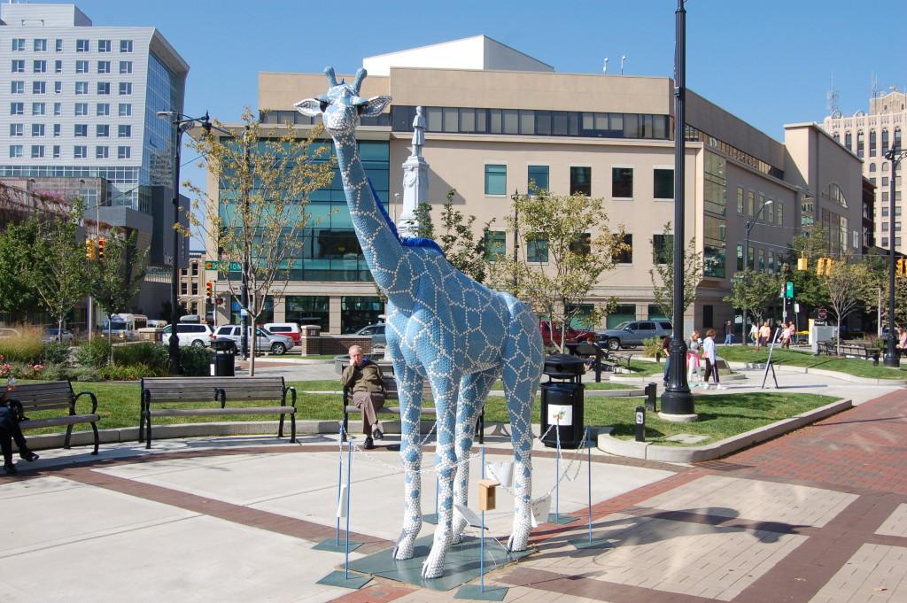 ArtPrize Blue Giraffe