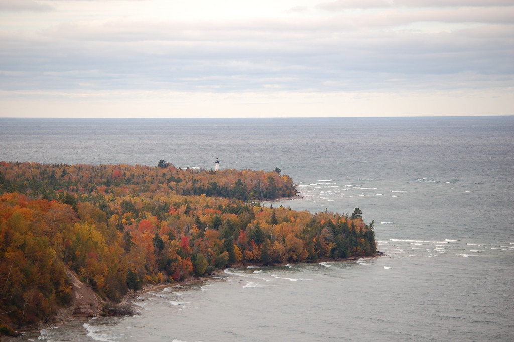 Au Sable Light Station from Pictured Rocks National Lakeshore Log Slide Overlook