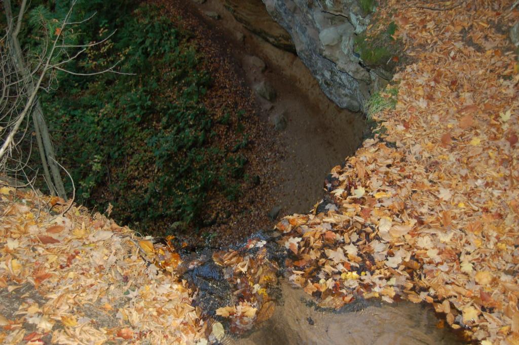 Brink of Memorial Falls in Munising, Alger County