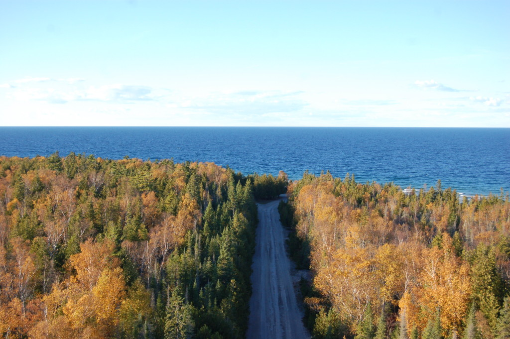 View from New Presque Isle Lighthouse tower
