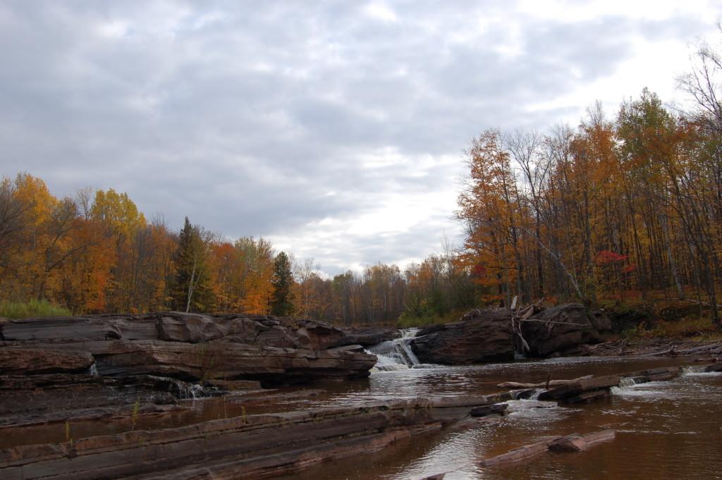 Bonanza Falls on the Big Iron River