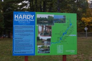 Hardy Dam Consumers Sign Michigan