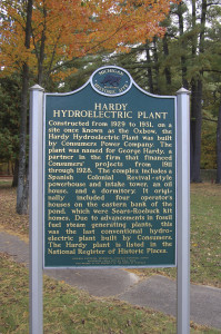 Hardy Dam Michigan Historical Marker