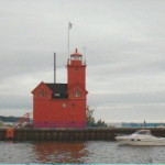 "Holland Harbor ""Big Red"" Lighthouse – A Lake Michigan Icon at Holland State Park"