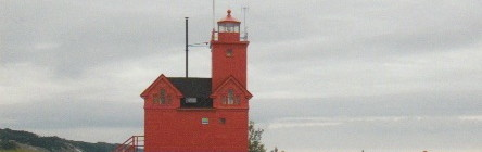 "Holland Harbor ""Big Red"" Lighthouse - A Lake Michigan Icon at Holland State Park"
