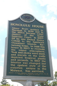 Honolulu House Marshall Historic Marker MI