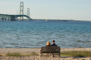 Mackinac Bridge View Lighthouse
