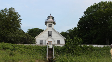 Old Mission Point Lighthouse - A Historic Beacon on the 45th Parallel
