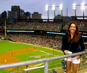 Shannon Long at a Detroit Tigers Game