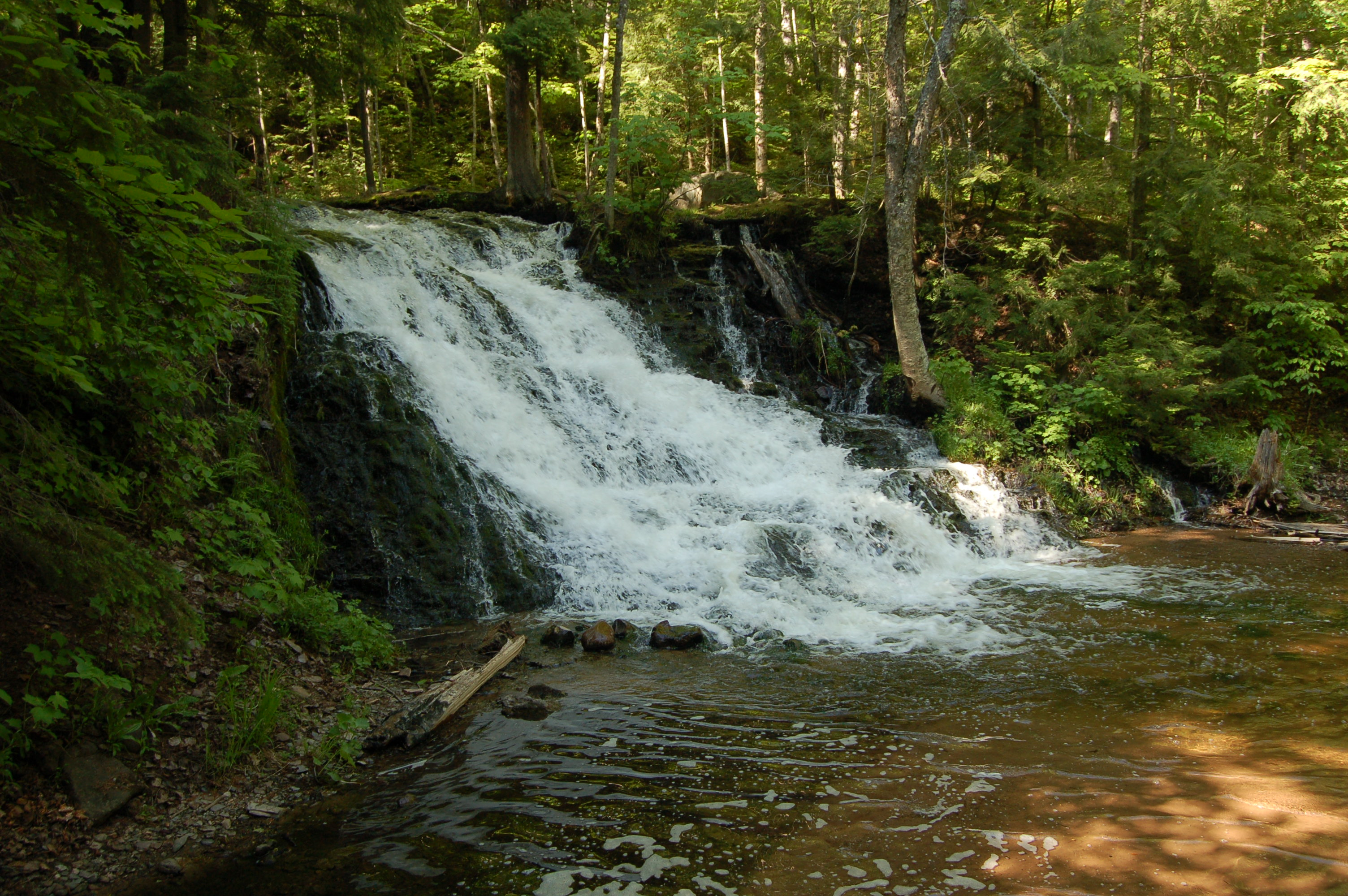 Unnamed falls on morgan creek in marquette county a for Morgan falls