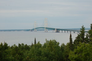 Straits State Park Mackinac Bridge View