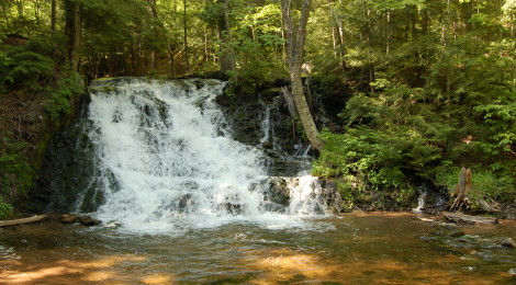 Unnamed Falls on Morgan Creek in Marquette County - A Scenic, Easily Accessible Waterfall