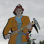 "Michigan Roadside Attractions: ""Big John"" Miner Sign at Iron Mountain Iron Mine"