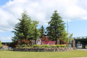 Fort Michlimackinac Entrance Sign