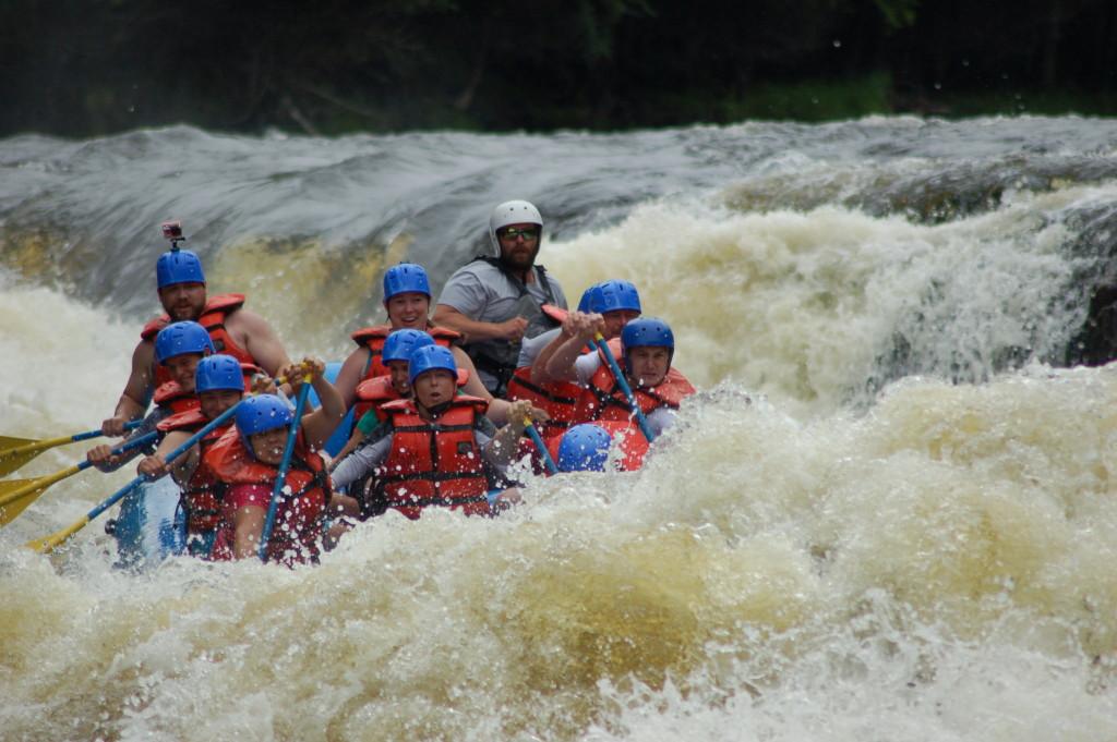 Piers Gorge Menominee River Rafting MI