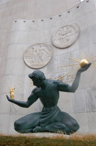 Spirit of Detroit Sculpture
