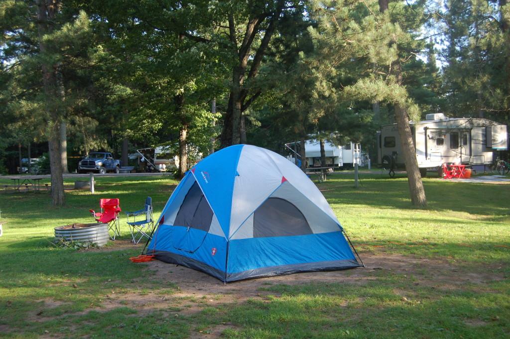 Van Riper State Park MI spacious campsite