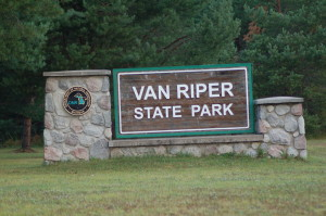 Van Riper State Park Michigan DNR Sign