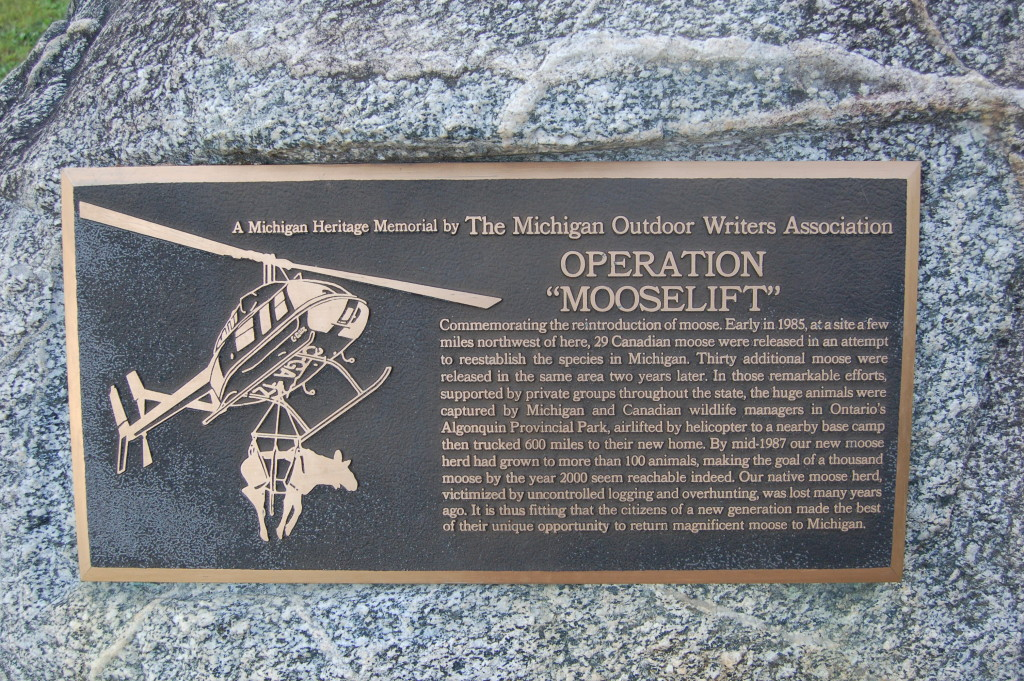 Van Riper State Park Mooselift MOWA Plaque