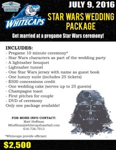 Whitecaps Wedding Star Wars