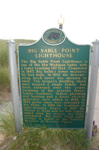 Big Sable Lighthouse Michigan Marker Side 2