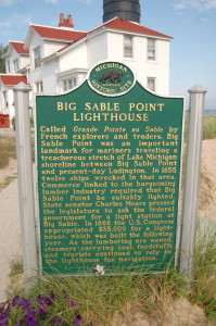 Big Sable Point Lighthouse Side 1 Michigan Marker