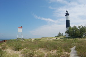 Big Sable Point Lighthouse and beach