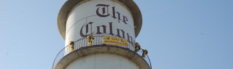 Michigan Roadside Attractions: Colony Tower in Clay Township, St. Clair County