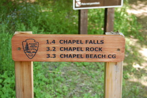Chapel Beach Sign Pictured Rocks