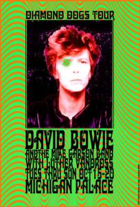 David Bowie Tour Poster