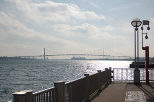 Detroit Riverwalk Ambassador Bridge