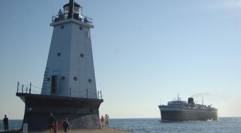 Ludington North Breakwater Lighthouse, Lake Michigan