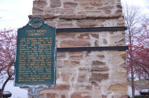 Port Hope Chimney Historic Marker MI