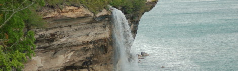 Spray Falls - Pictured Rocks National Lakeshore