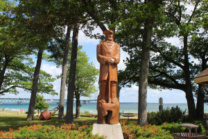 Alexander Henry Woodcarving Mackinaw City