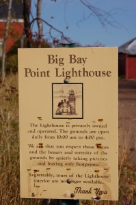 Big Bay Lighthouse Sign Michigan