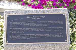 Bishop Baraga Plaque Grand Rapids