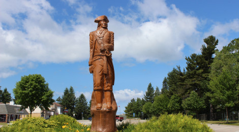 Mackinaw City Historic Figure Woodcarvings by Jerry Prior