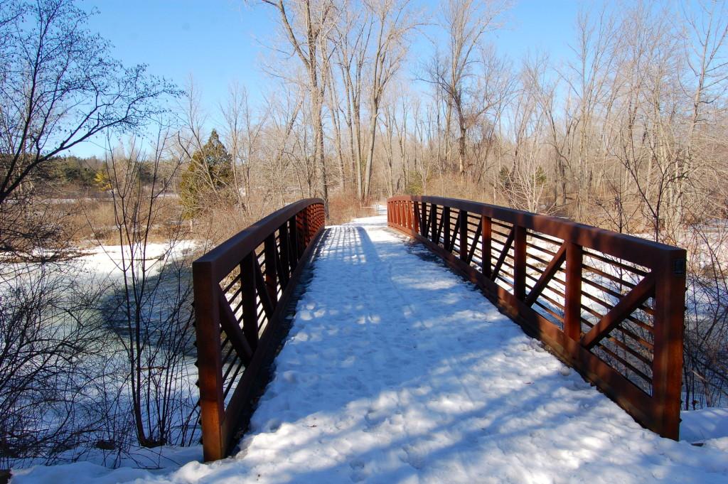 Deerfield Nature Park Mt. Pleasant Snowy Bridge
