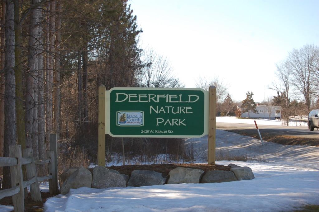 Deerfield Nature Park Sign
